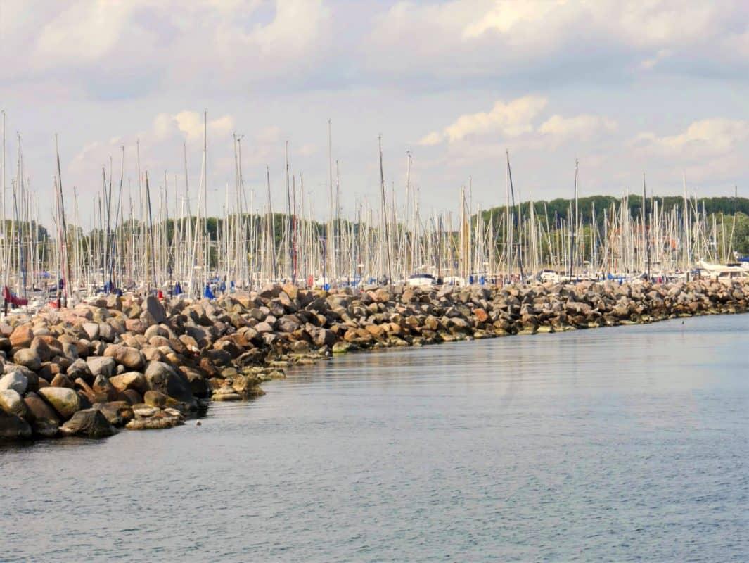 Segelhafen in der Kieler Förde